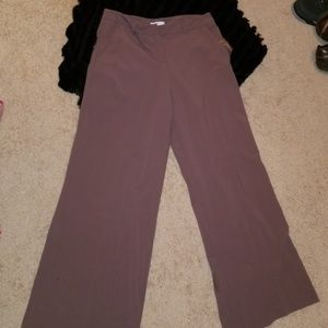 Wide leg trouser dress pant